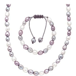 Honora adjustable freshwater cultured pearl set